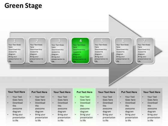 Ppt Successive Description Of Go Green PowerPoint Templates Stage An Arrow
