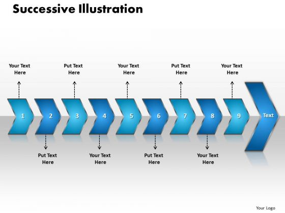 Ppt Successive Illustration Of 9 Concepts PowerPoint Templates