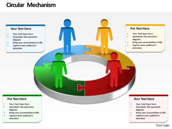 Ppt Symbol Business Men Standing On Financial Colorful Pie Chart PowerPoint Templates