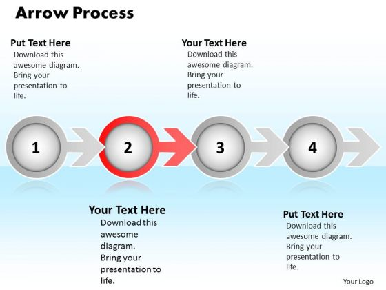 Ppt Techno Layouts PowerPoint 2003 Arrow And Process 4 Stages Templates