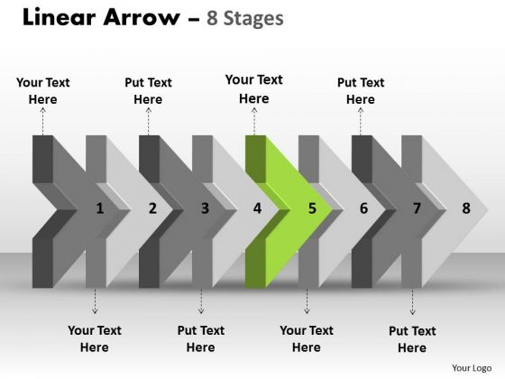 Ppt Template 3d Arrow Representing Eight Later Steps 6 Image