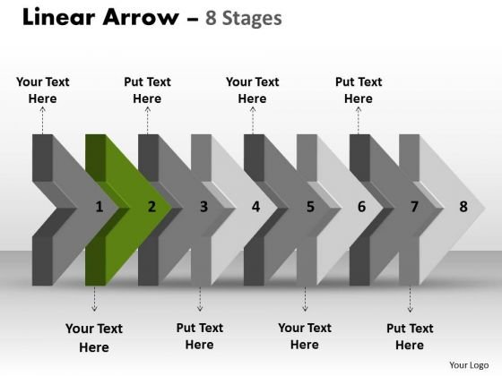 Ppt Template 3d Arrow Representing Eight Later Steps Time Management PowerPoint Design