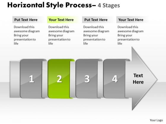 Ppt Template 4 Horizontal Missing Steps Working With Slide Numbers Demonstration 3 Image
