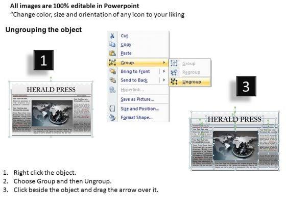Ppt Template Editable Newspaper Headline PowerPoint Slide Graphics – Newspaper Headline Template