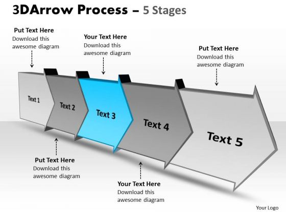 Ppt Template Five Stages Planning Progression Spider Diagram