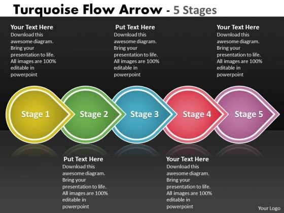 Ppt Template Five Steps Business PowerPoint Slide Text Free Download Arrow Means 1 Design