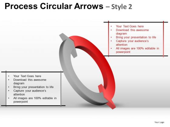 Ppt Templates 2 Factors Interconnecting Arrows Cycle Diagram PowerPoint Slides