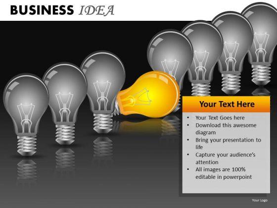 Ppt Templates Light Bulbs Teamwork