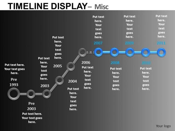 Ppt Templates Past History And Future Planning Trend Time Line PowerPoint Slides Editable