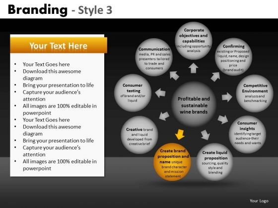 Ppt Templates Wheel And Spoke Diagram PowerPoint Slides