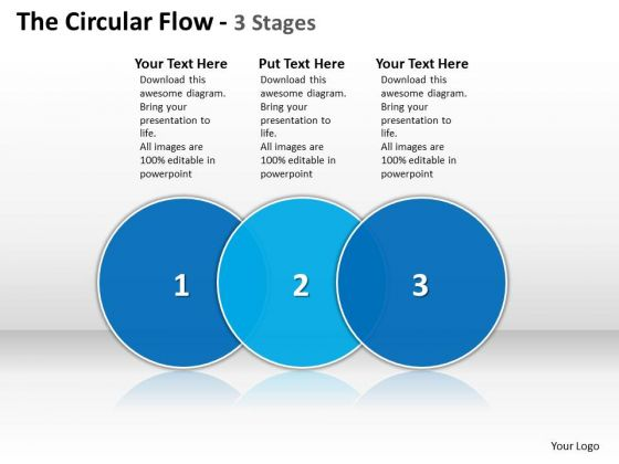 Ppt The Circular PowerPoint Menu Template Flow 3 State Diagram Templates