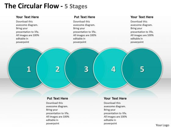 Ppt The PowerPoint Presentation Circular Flow 5 Stages Templates