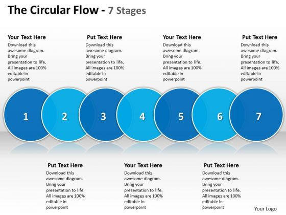 Ppt The PowerPoint Presentation Circular Flow 7 State Diagram Templates