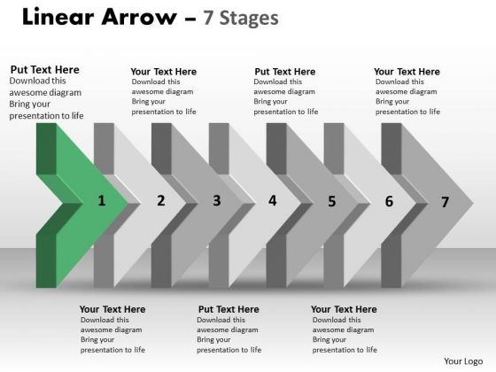 Ppt Theme 3d Arrow Representing Consecutive Steps Operations Management PowerPoint 2 Graphic