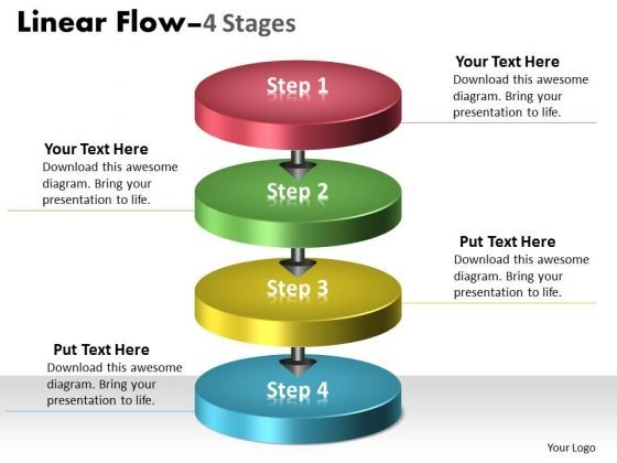 Ppt Theme 3d Illustration Of 4 Stages Free Firm Presentation Course 1 Design