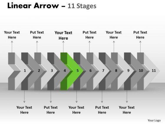 Ppt Theme 3d Illustration Of Beeline Arrow Flow Diagram Company Plan PowerPoint 6 Image