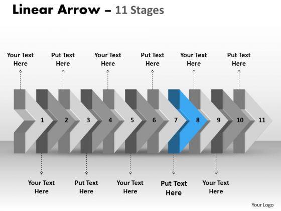 Ppt Theme 3d Illustration Of Beeline Arrow Flow Network Diagram PowerPoint Template 9 Graphic