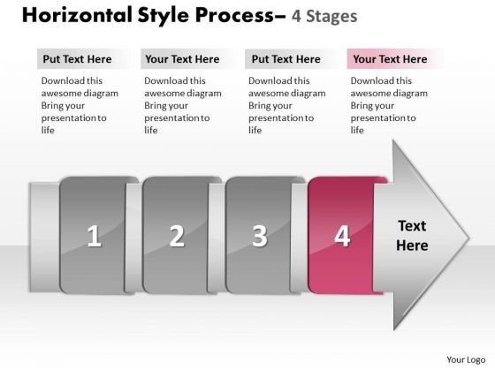 Ppt Theme 4 Horizontal To Vertical Text Steps Working With Slide Numbers Demonstration 5 Image
