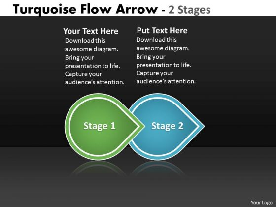 ppt theme beeline two phase diagram arrow ishikawa powerpoint, Modern powerpoint