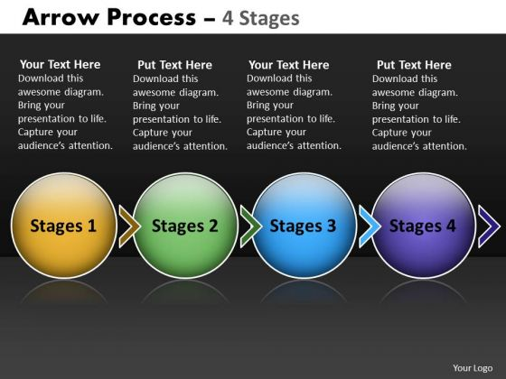 Ppt Theme Circular Flow Of 4 Stage Diagram Sales Communication PowerPoint 1 Design