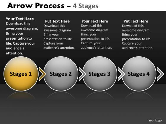 Ppt Theme Circular Flow Of 4 Stage Diagram Sales Communication PowerPoint 2 Design