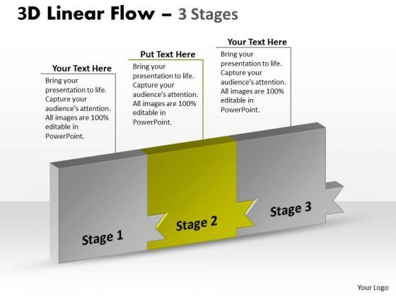 Ppt Theme Continous Way To Show 3 Practice PowerPoint Macro Steps Workflow Image