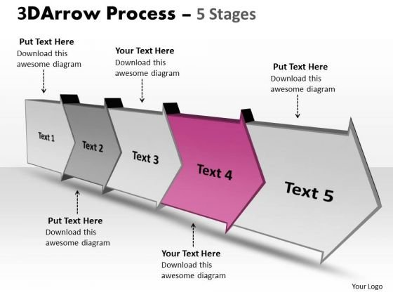 Ppt Theme Five Stages Planning Activity Diagram PowerPoint Free 5 Graphic