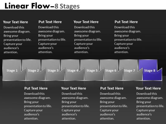 Ppt Theme Multicolored Sequential Flow Diagram Leadership Presentation PowerPoint 9 Graphic