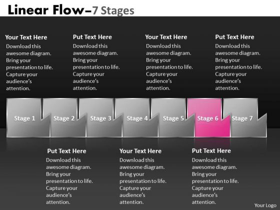 Ppt Theme Multicolored Sequential Marketing Flow Business Strategy PowerPoint 7 Image