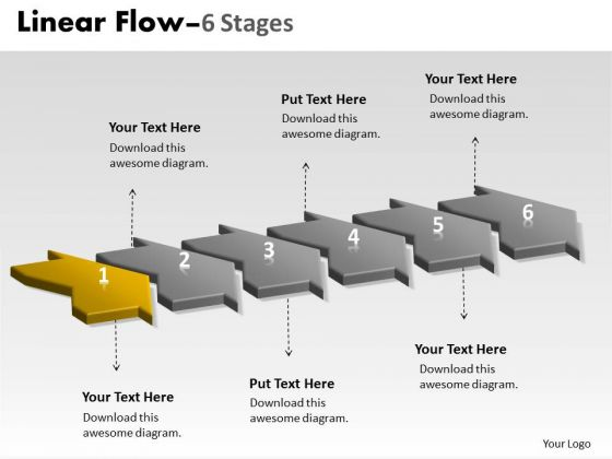 Ppt Theme Work Flow In Past Continuous Six Phase Organization Communication PowerPoint 2 Image