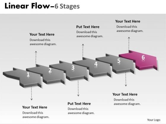 Ppt Theme Work Flow In PowerPoint 2010 Loop Six Phase Enterprise Plan 7 Design
