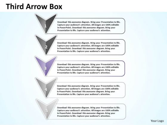 Ppt Third Arrow Describing Stage PowerPoint Templates