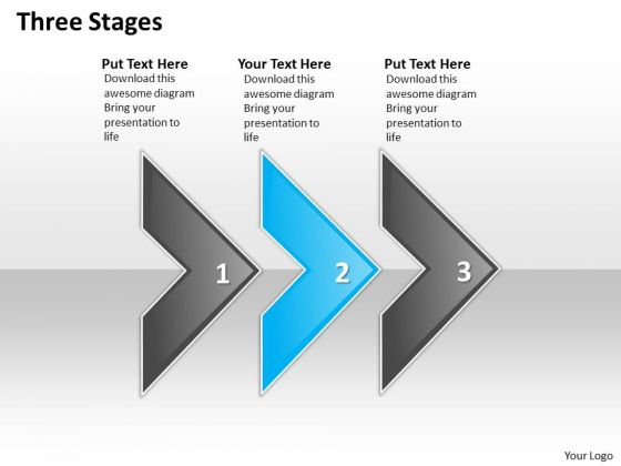 Ppt Three Stages Steps Working With Slide Numbers Arrows PowerPoint Templates