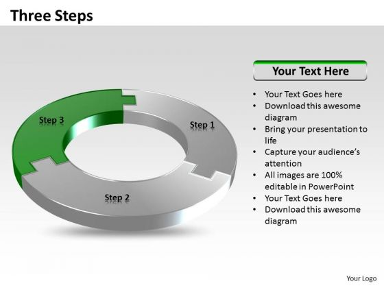 Ppt Three Step Process Editable Business Plan PowerPoint Chart Templates