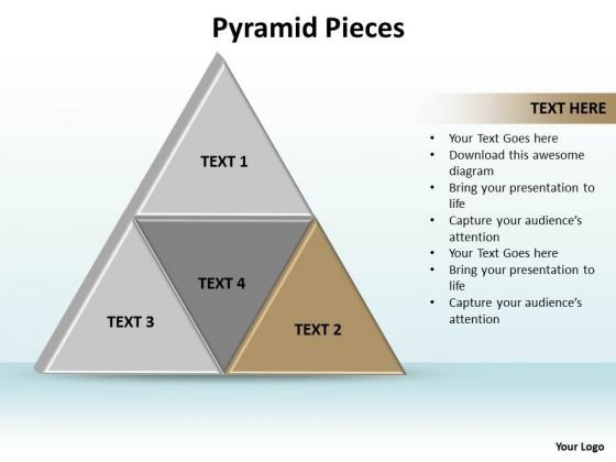Ppt Triangle Showing Brown And Its Components PowerPoint Templates
