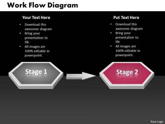 Ppt Two Stages Sequential Learning PowerPoint Backgrounds Flow Diagram 2 Templates