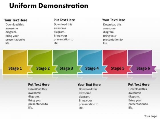 Ppt Uniform Demonstration Of 6 Power Point Stage PowerPoint Templates