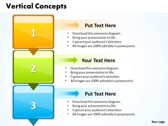 Ppt Vertical Steps 3 PowerPoint Templates