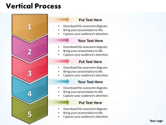 Ppt Vertical Steps Working With Slide Numbers 5 1 PowerPoint Templates