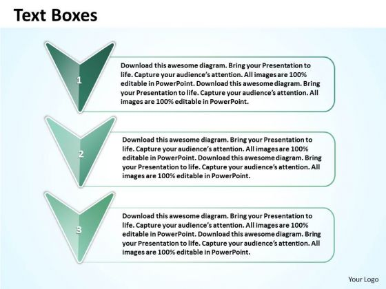 Ppt Verticle Arrow With Text Link Boxes PowerPoint 2007 Templates