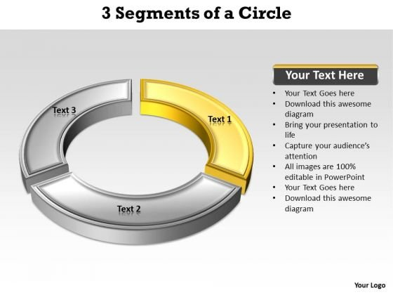 Ppt Yellow Arc Describing One Method PowerPoint Templates