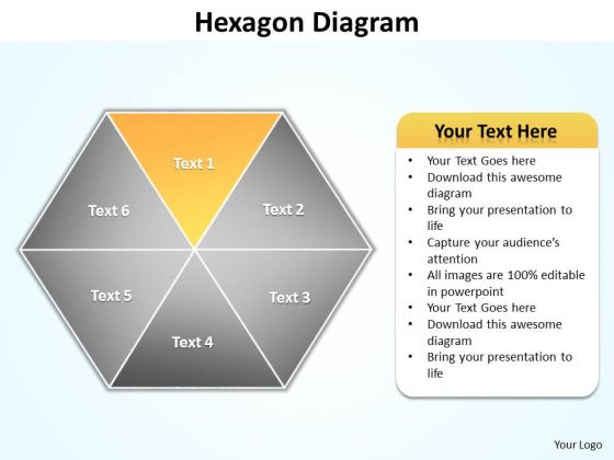 Ppt Yellow Factor Hexagon Cause And Effect Diagram PowerPoint Template Editable Templates
