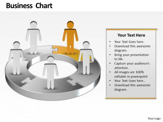 Ppt Yellow Men Standing On Business PowerPoint Presentation Pie Chart Templates
