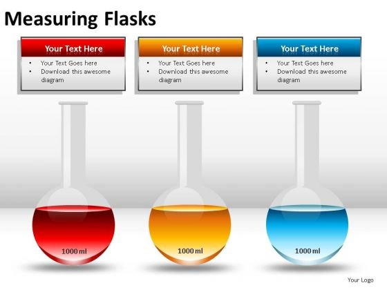 Practitioner Measuring Flasks PowerPoint Slides And Ppt Diagram Templates