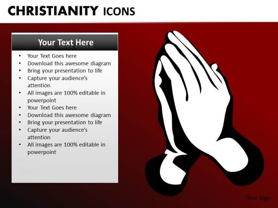 Pray To Jesus PowerPoint Ppt Slides