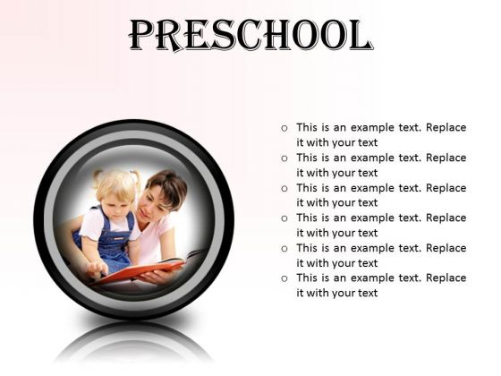Preschool Education PowerPoint Presentation Slides Cc