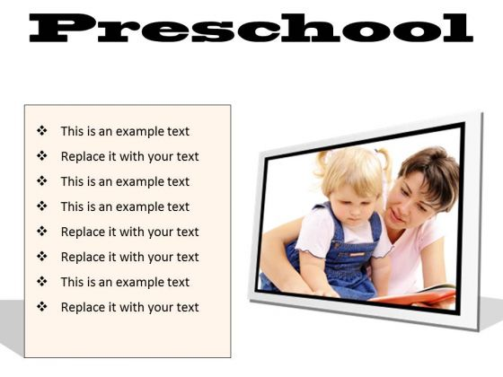 Preschool Education PowerPoint Presentation Slides F