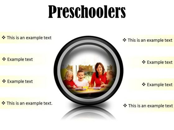 Preschoolers Children PowerPoint Presentation Slides Cc
