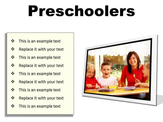 Preschoolers Children PowerPoint Presentation Slides F
