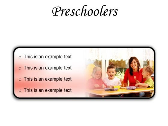 Preschoolers Children PowerPoint Presentation Slides R